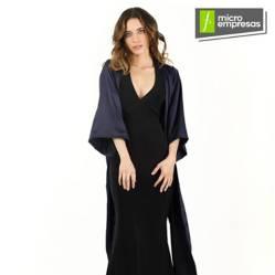 Kimono Largo Tipo Seda