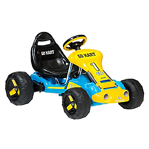Go Kart Children On Car I Azul