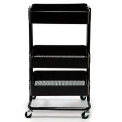 Carrito Metal Negro 78x44x35 cm