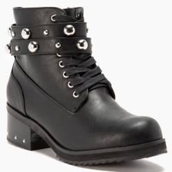 Comprar mujer botines de cuero con flecos estilo oeste