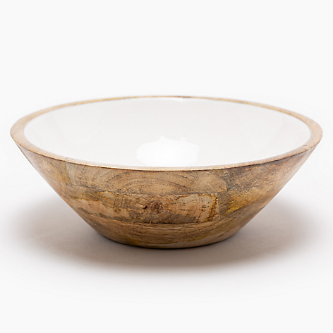 Bowl Wood Enamel