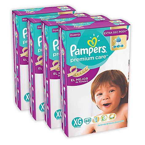 Pack x 4 Pampers Premium Care XGD 68