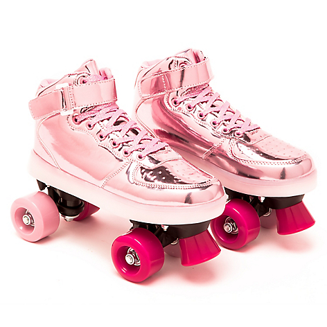 Patines con Luces LED Rosado