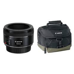 Combo Lente EF 50 mm / 1.8 STM + Bolso para Cámaras 100EG