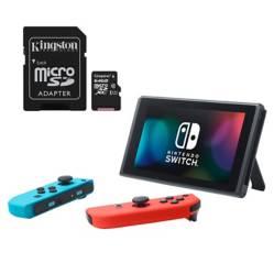 Combo Switch Azul-Roja + Micro SD Canvas Select 64Gb