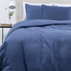 Funda de Plumón 100% Lino Azul