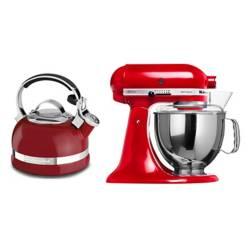 Combo Batidora Artisan Roja + Tetera Roja