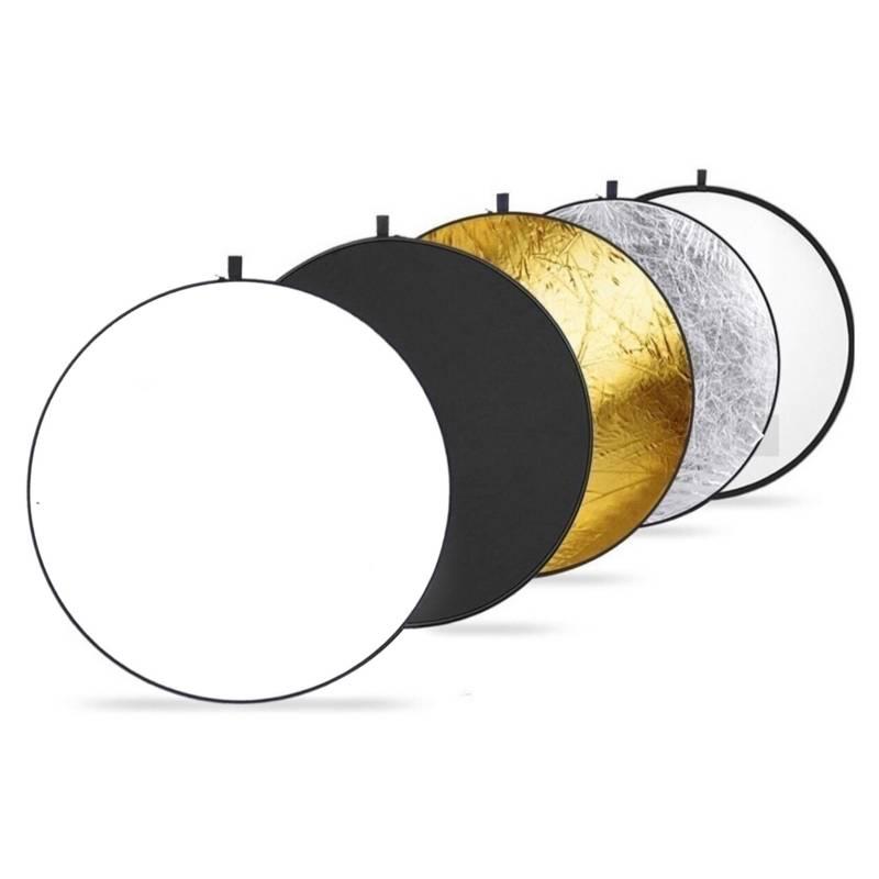 BJ HOGAR - Pantalla Reflectora Fotográfica 110Cm 5 en 1