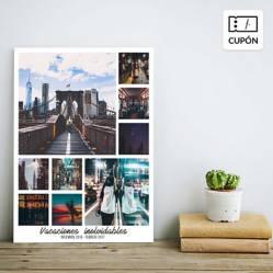 SNAPSHOT - Collage con fotos personalizadas 30 x 40 cm con bastidor