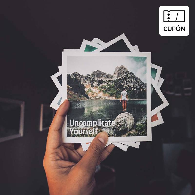 SNAPSHOT - Pack 100 fotos 13 x 13 cm impresas