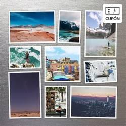 SNAPSHOT - Composición de imán 20x20 a elección entre 9, 10 o 13 fotografías