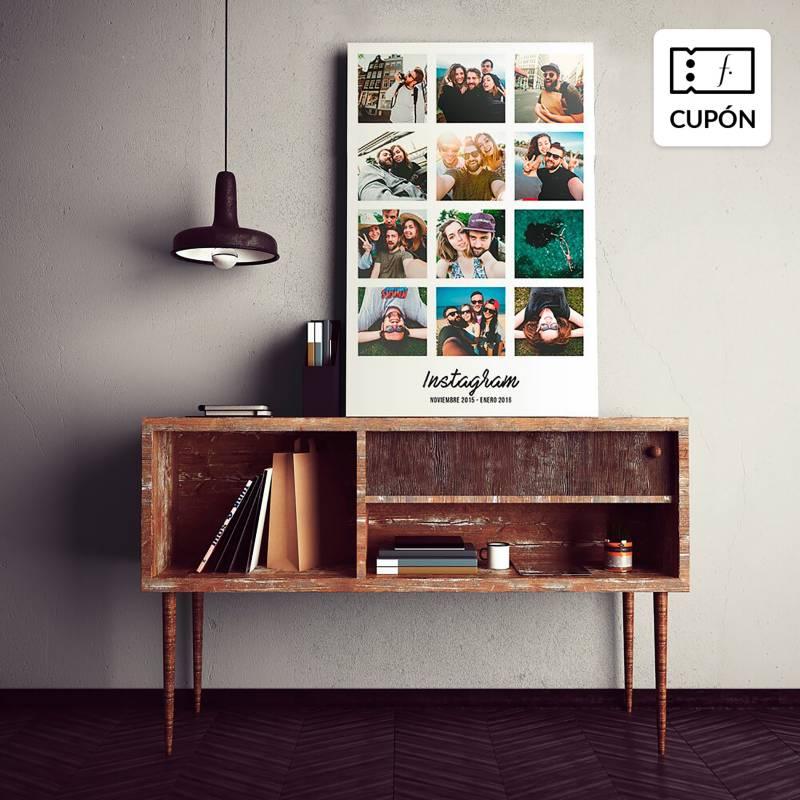 SNAPSHOT - Collage con fotos personalizadas 20 x 30 cm con bastidor