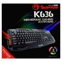 Marvo - Teclado de Membrana Gamer Marvo Scorpion K636