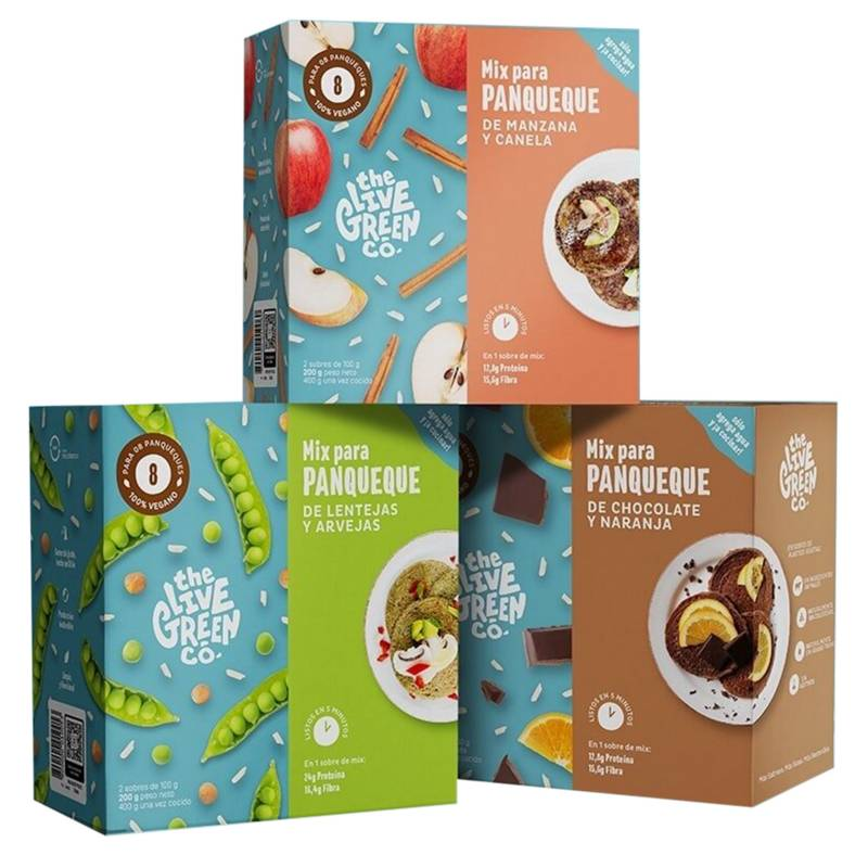 THE LIVE GREEN CO - 3 Sabores | Green Pancake Mix