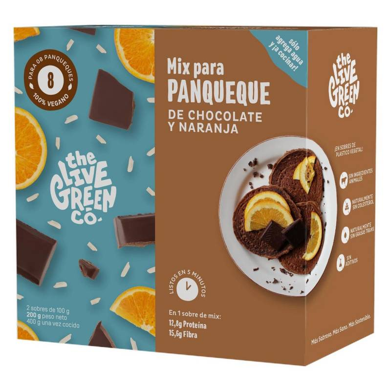 THE LIVE GREEN CO - 2 Pack | Green Pancake Mix - Chocolate y Naranja