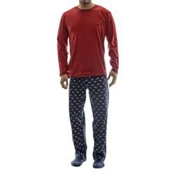 Top - Pijama Manga Larga y Pantalón con Diseño