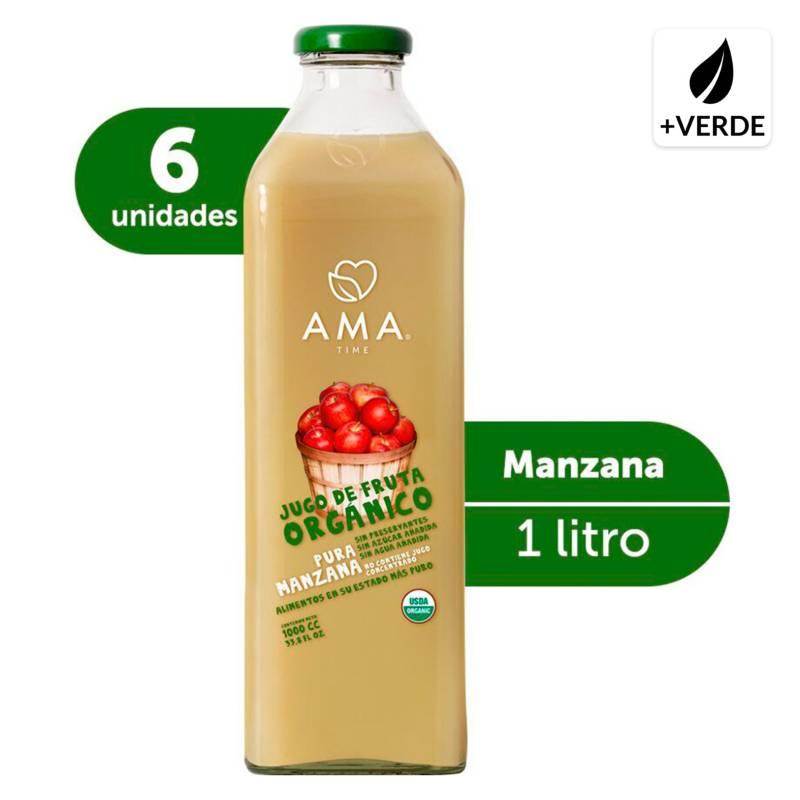 AMA - Jugo Manzana Orgánico 6X1000Cc