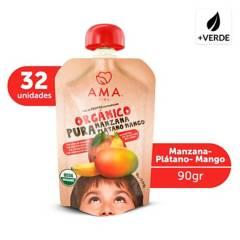 AMA - Puré Manzana Plátano Mango Orgánico 32X90Grs