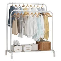 BJHOGAR - Perchero Metalico Closet Doble Organizador