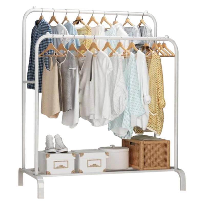 BJ HOGAR - Perchero Metalico Closet Doble Organizador