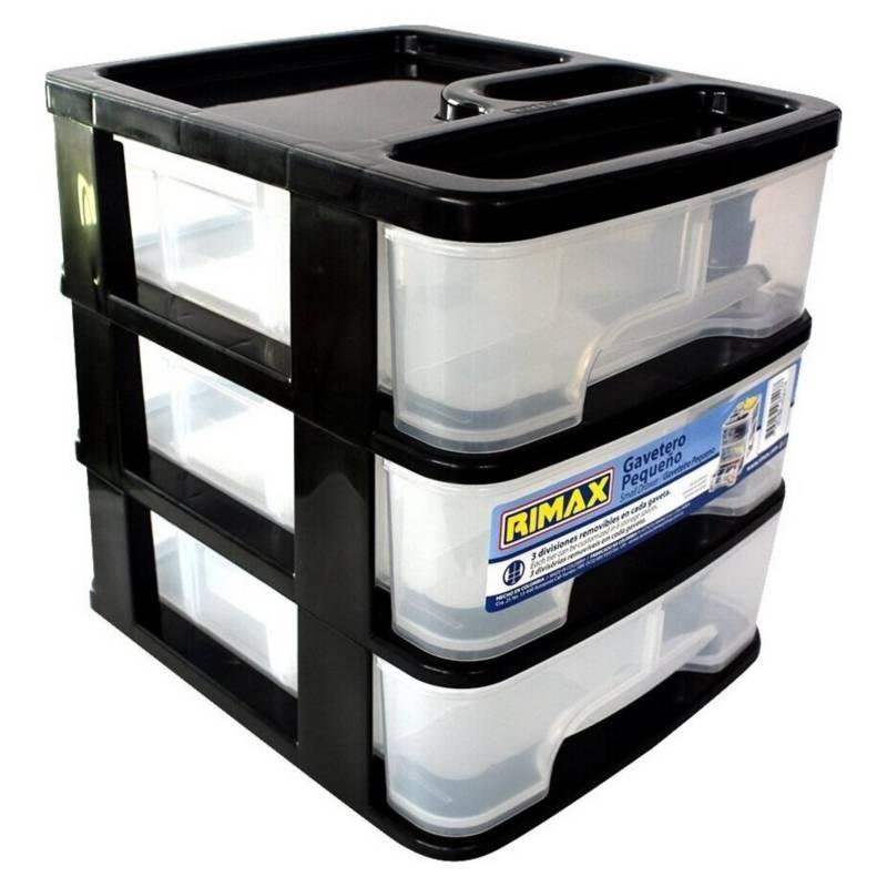 RIMAX - Caja Organizadora Pequeña 3 Cajones