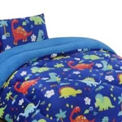 BJHOGAR - Cobertor Plush Con Chiporro 1.5 Plazas Dino