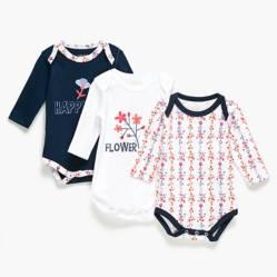 Yamp - Body pack 3 unidades algodón peruano bebé niña