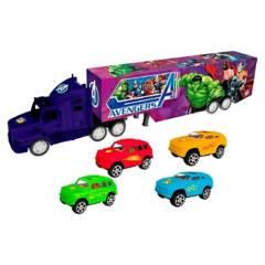 Avengers - Camion con Trailer a Friccion con Autos Avengers