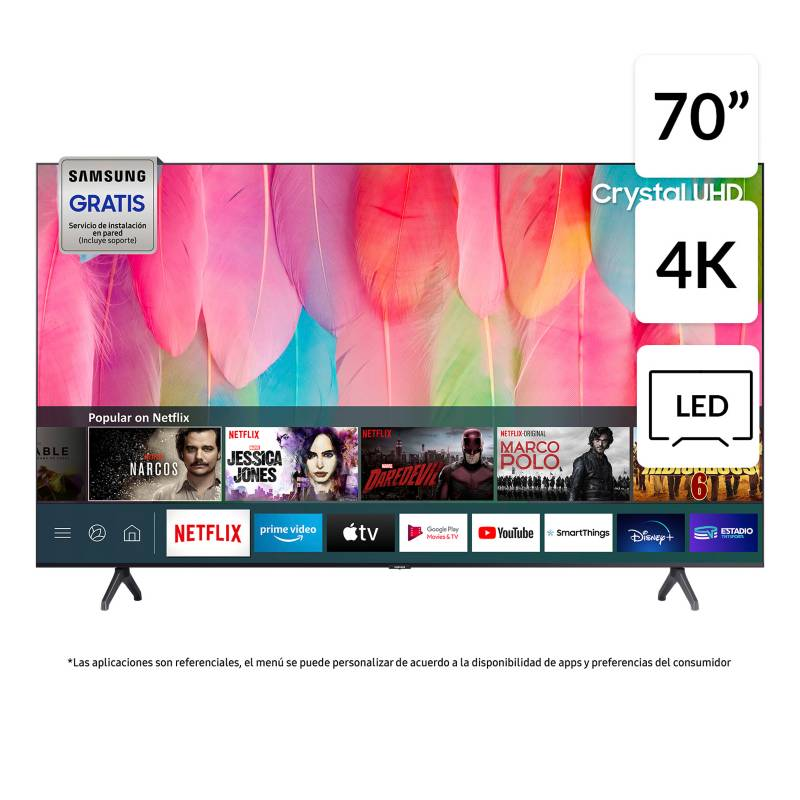 "Samsung - LED 70"" TU7100 Crystal UHD 4K Smart TV 2020"