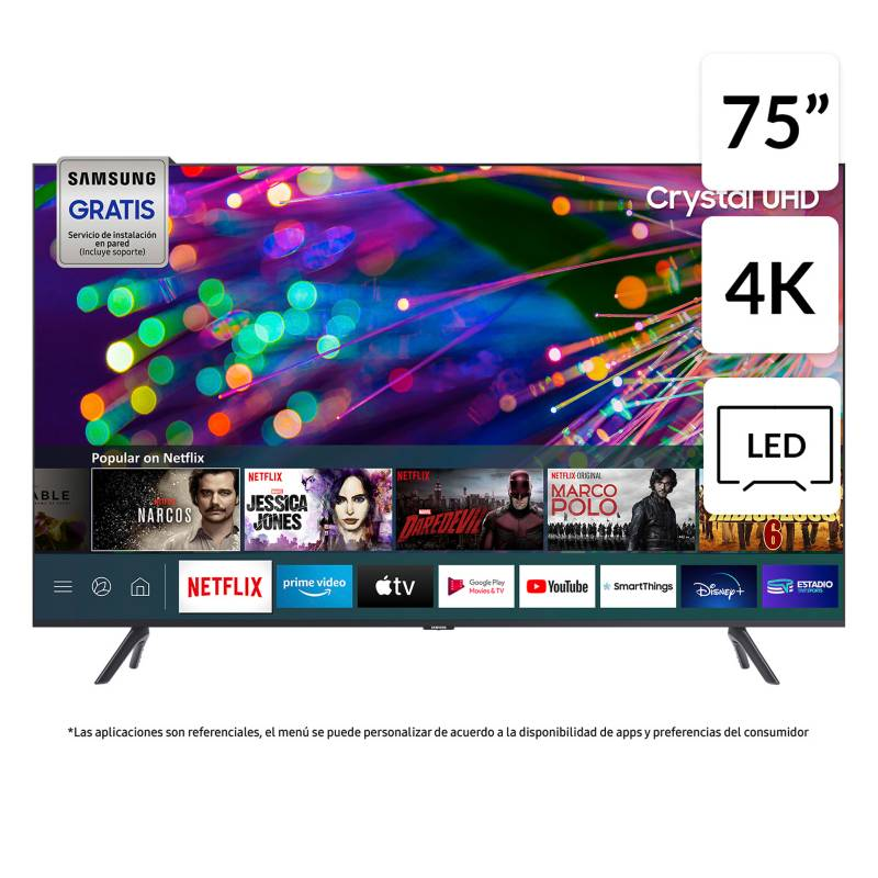 "Samsung - LED 75"" TU8200 Crystal UHD 4K Smart TV 2020"