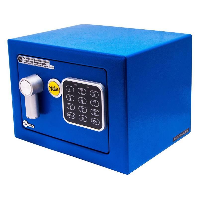 YALE - Caja de Seguridad Mini Azul 4.2 Lts.