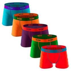 Top - Boxer Infantil Algodón Color