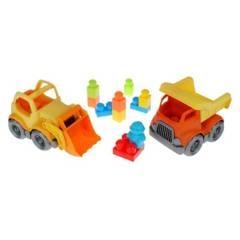 Ansaldo - Pack 2 Vehiculos de Construccion con 9 Bloques
