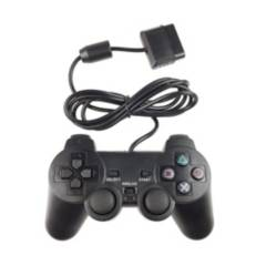 DBLUE - Joystick D-Shock Play Station 2 Negro -DBLUE