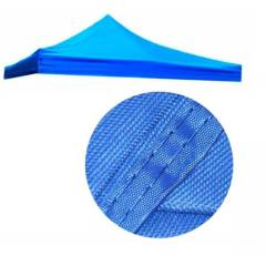 GENERICO - Lona Carpa Techo Para Toldo Plegable 3x3 Azul