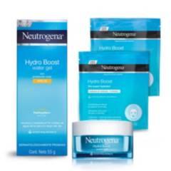 NEUTROGENA - Pack Crema Facial Fps + Water Gel + 2x Máscaras