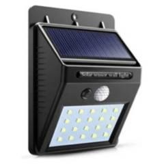ASTR - Foco Solar 20 Led Sensor Movimiento Farol Exterior