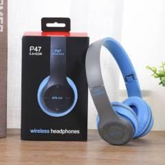 SM - Audifonos bluetooth p47 inalambricos bluetooh Azul