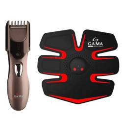 Gama - Electroestimulador SkinPad Active Ultra + Cortapelos Trimmer GT420