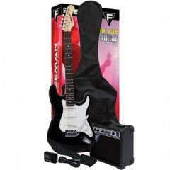 FREEMAN - Set Guitarra Eléctrica Freeman FULL ROCK negro