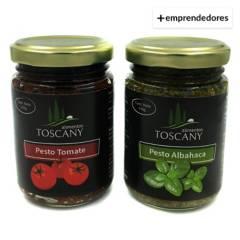 ALIMENTOS TOSCANY - Pack Duo de Pestos Albahaca y Pesto Tomate Desh