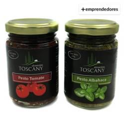 GOURMET - Pack Duo de Pestos Albahaca y Pesto Tomate Desh