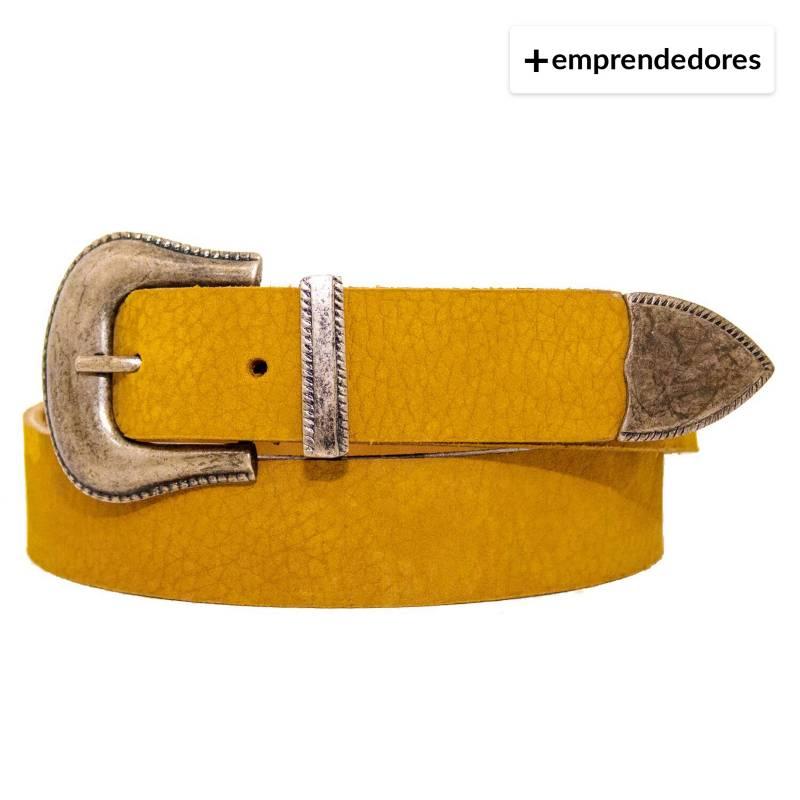 MAECUEROS - Cinturón Cuero Abc