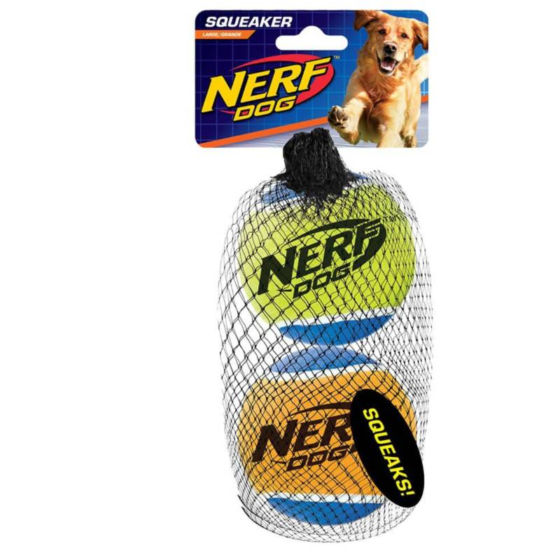 NERF DOG - Nerf Dog Squeak Tennis Balls Large