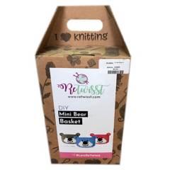 ORQUIDEA - Kit de Tejido Crochet-Mini Bear Basket