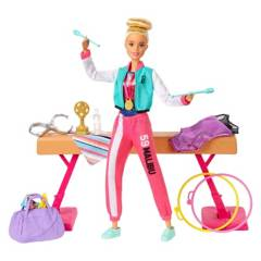 BARBIE - Muñeca Barbie Set De Muñeca Gimnasta