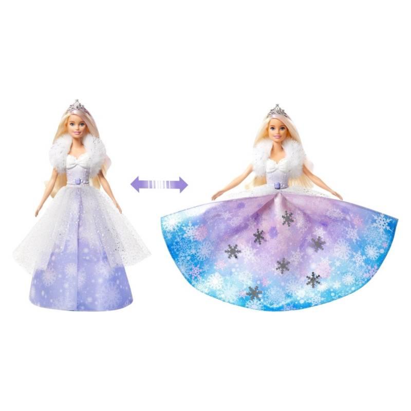 BARBIE - Muñeca Barbie Princesa Vestido Mágico