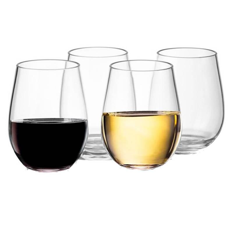 HOMEWELL - Set 4 Vasos Vino Vidrio 540 Ml