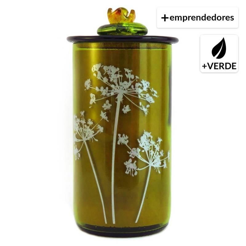 LALLAVEMAGICA.CL - Frasco Especiero de Botella Vino 3 Diseño Semillas