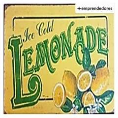 AGUA Y ACEITE - Letrero Vintage Metálico Lemonade